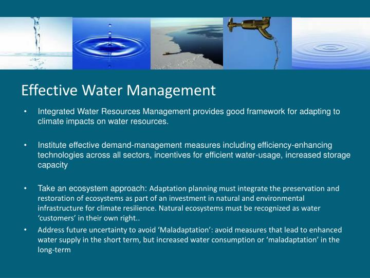Effective Water Management