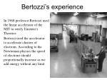 bertozzi s experience