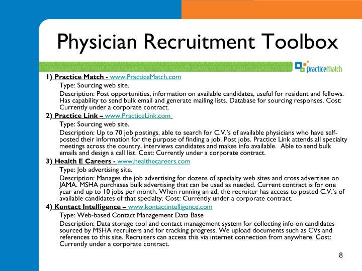Physician Recruitment Toolbox