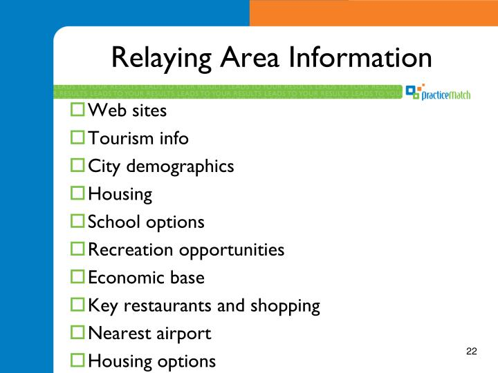 Relaying Area Information