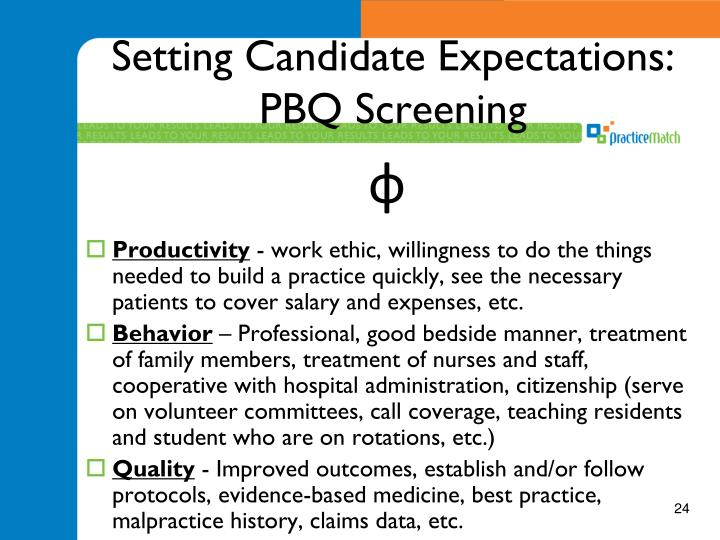 Setting Candidate Expectations: