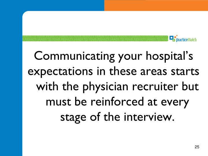 Communicating your hospital's