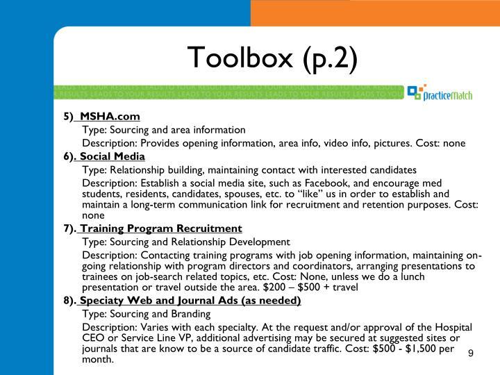 Toolbox (p.2)