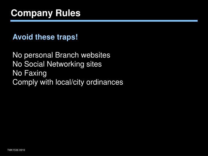 Company Rules