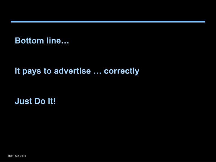 Bottom line…