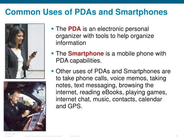 Common Uses of PDAs and Smartphones
