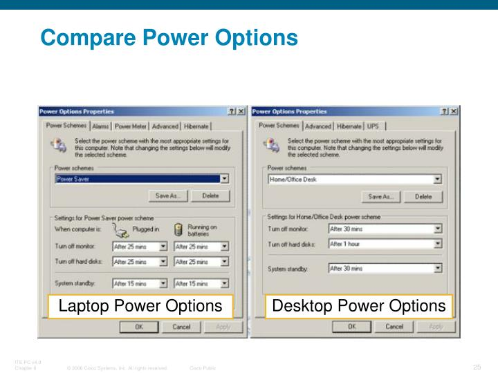 Compare Power Options