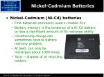 nickel cadmium batteries