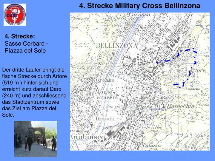 4. Strecke Military Cross Bellinzona