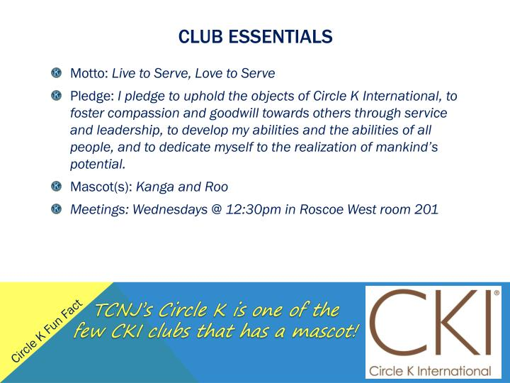 Club essentials