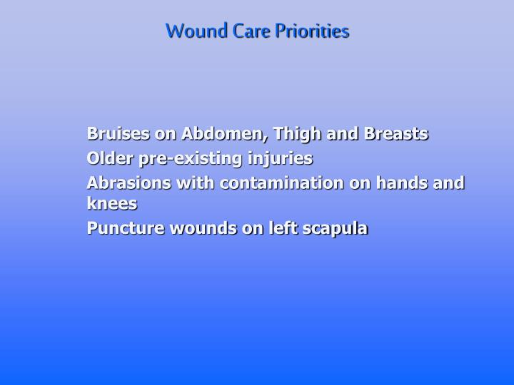 Wound Care Priorities