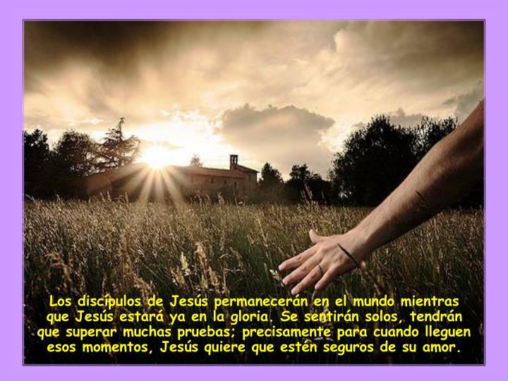 Los discípulos de Jesús permanecerán en el mundo mientras