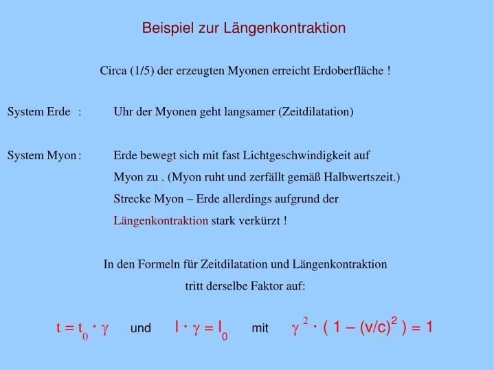 Beispiel zur Längenkontraktion