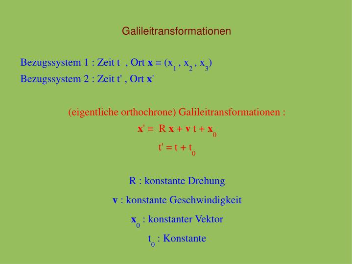 Galileitransformationen