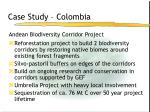 case study colombia