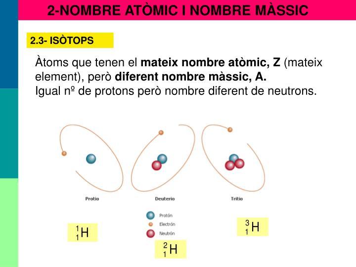 2-NOMBRE ATÒMIC I NOMBRE MÀSSIC