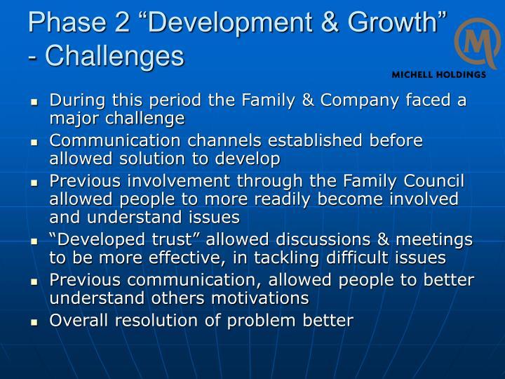 "Phase 2 ""Development & Growth"""