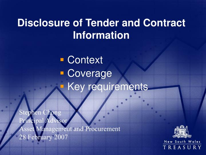disclosure of tender and contract information n.