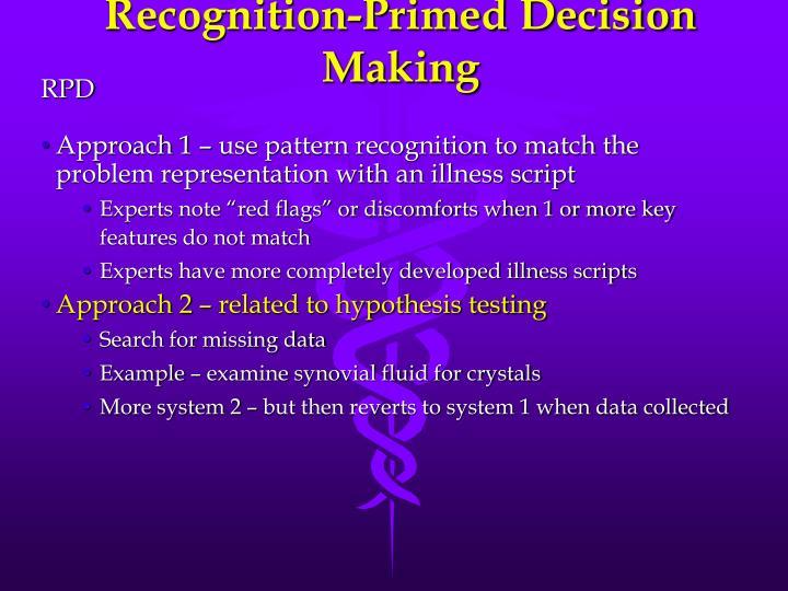Recognition-Primed Decision Making