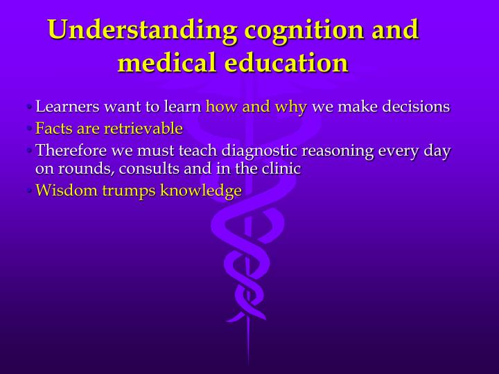 Understanding cognition and medical education