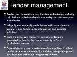 tender management
