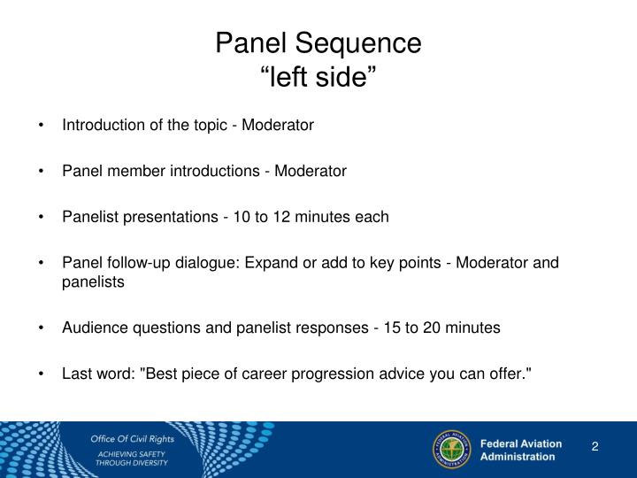 Panel sequence left side