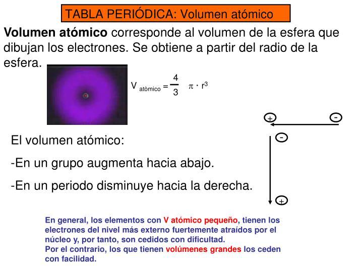 Ppt tabla peridica modelos atmicos powerpoint presentation id v atmico p r3 4 3 tabla peridica volumen atmico urtaz Image collections