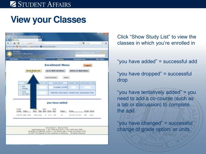View your Classes