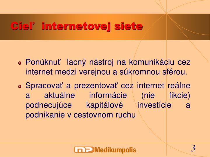 Cie internetovej siete