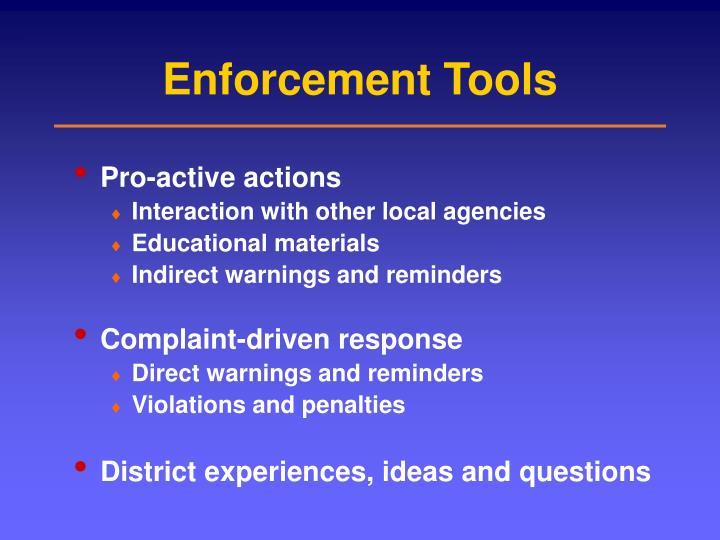 Enforcement Tools