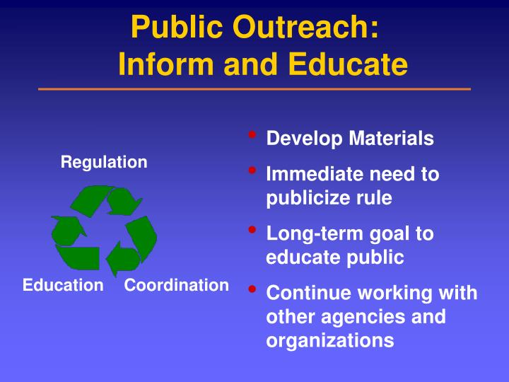 Public Outreach: