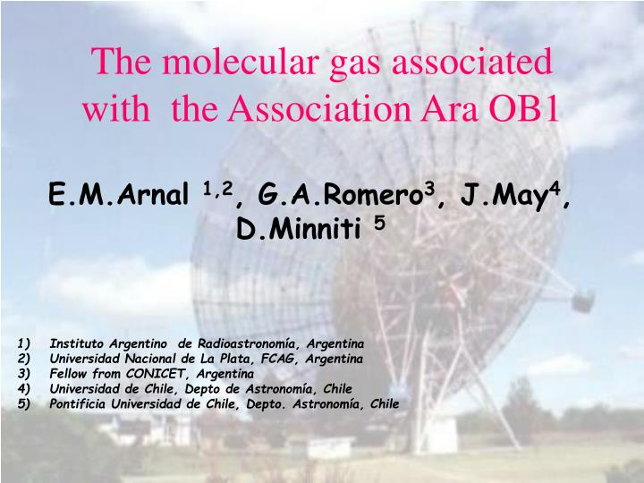 The molecular gas associated with the association ara ob1