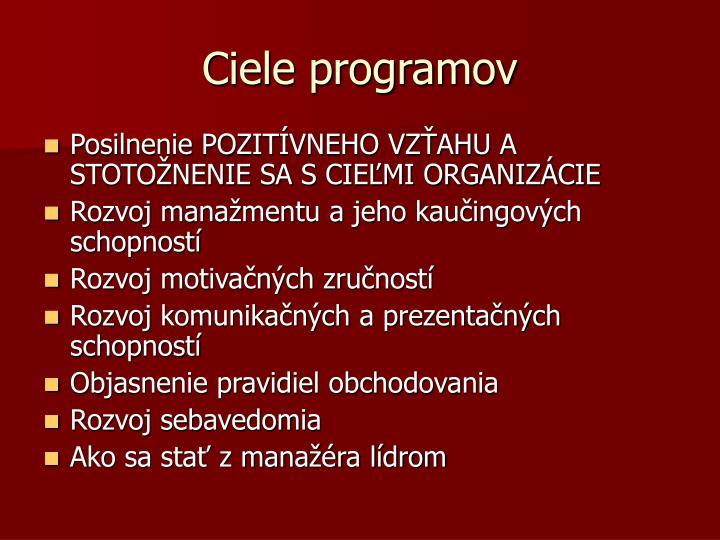 Ciele programov