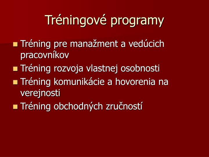 Tréningové programy