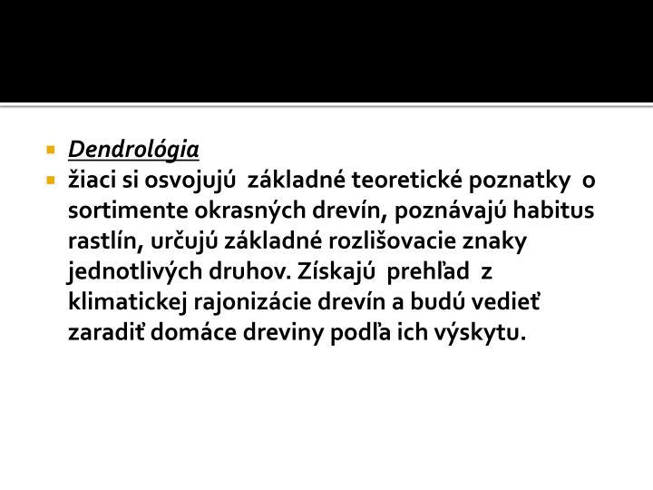Dendrológia