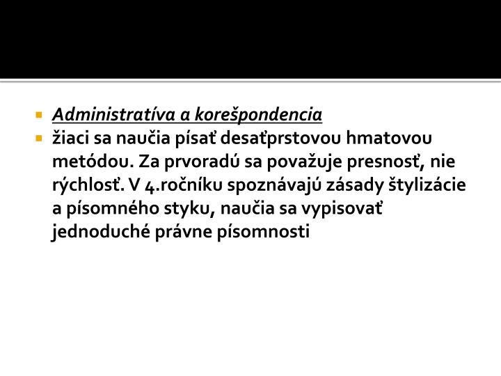 Administratíva akorešpondencia
