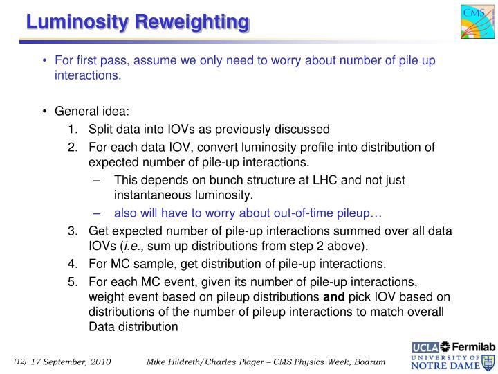 Luminosity Reweighting