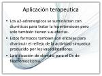 aplicaci n terapeutica