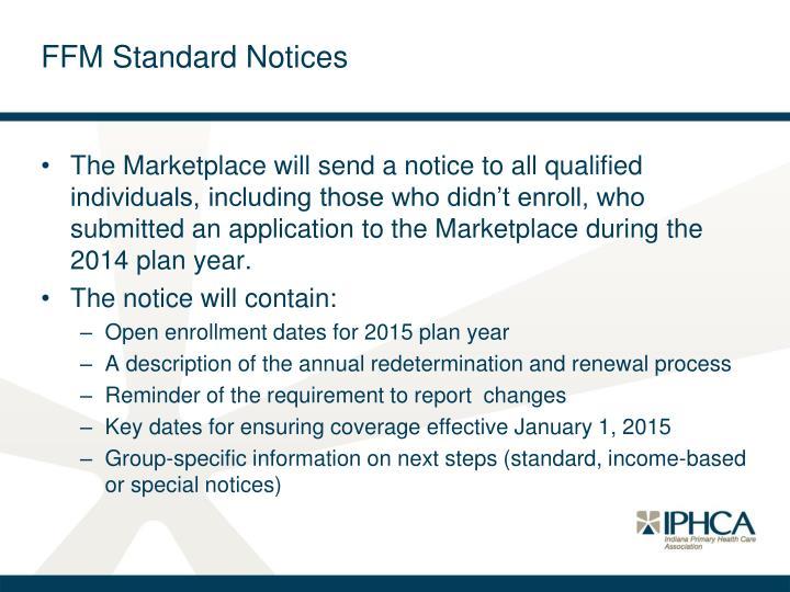 FFM Standard Notices
