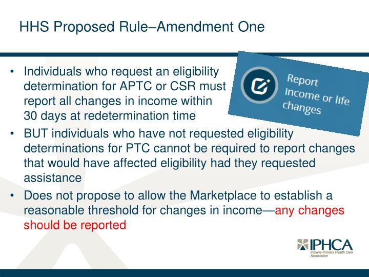 HHS Proposed Rule–Amendment One