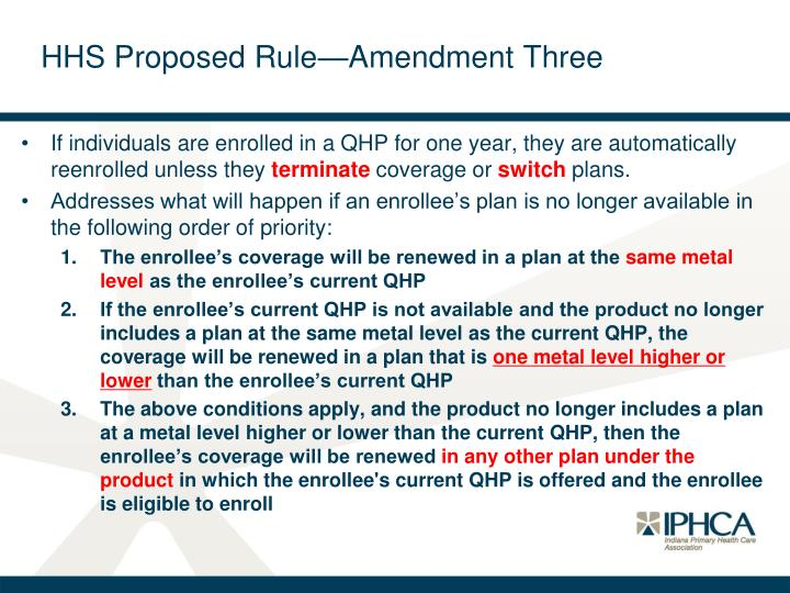 HHS Proposed Rule—Amendment Three