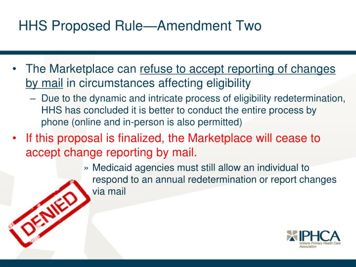 HHS Proposed Rule—Amendment Two