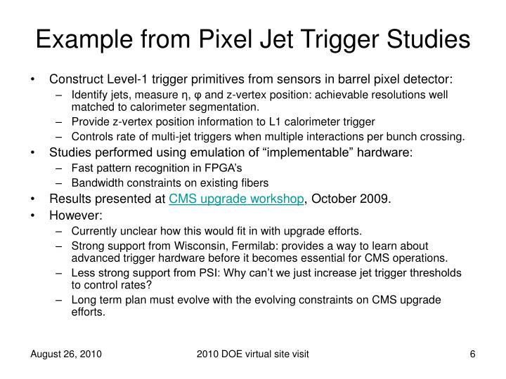Example from Pixel Jet Trigger Studies