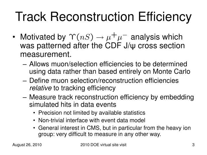 Track reconstruction efficiency