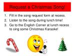 request a christmas song
