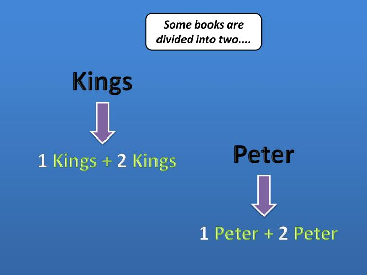 Some books are divided into two....