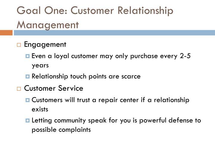 Goal One: Customer Relationship Management