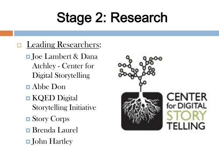 Stage 2: Research