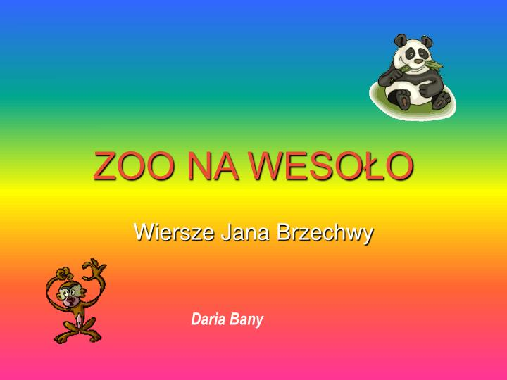 Ppt Zoo Na Wesoło Powerpoint Presentation Free Download
