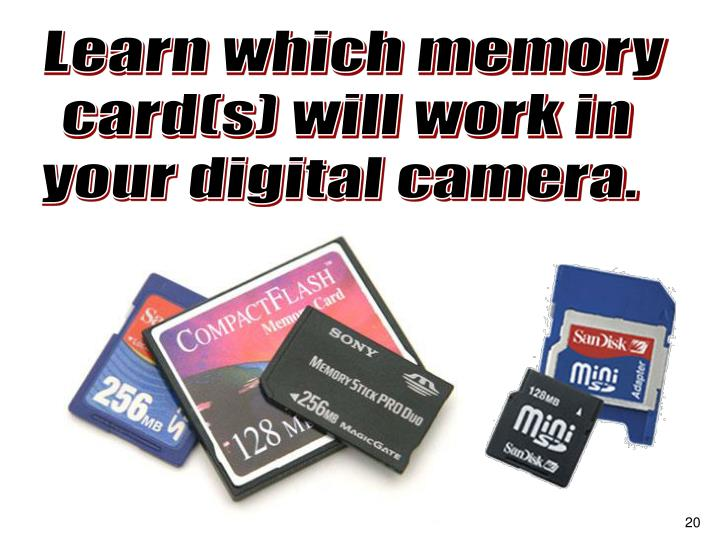 Learn which memory